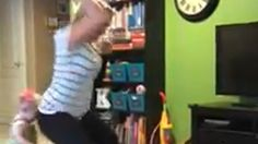 'The perils of twerking': Mom booty bumps her baby to the floor in viral video