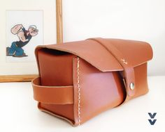 Leather Dopp Kit / Toiletry Bag / Attache Bag