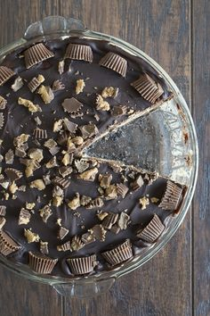 Peanut Butter Cup Chocolate Pie   thefirstyearblog.com