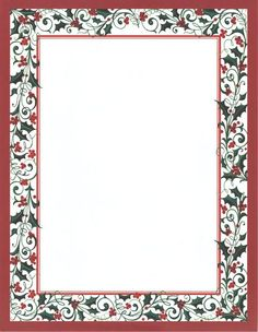 "M. Middleton @ Holly V. Monroe  HOLLY TWIST LASER STATIONERY    8.5"" X 11""  Laser Stationery  15 Sheets & Envelopes  cards • christmas-boxed  $10.50"