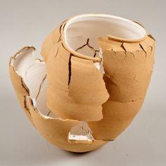 Ran Out ceramics by Shlomit Bauman Contemporary Artwork, Contemporary Ceramics, Contemporary Artists, Ceramic Cups, Ceramic Art, Spa Furniture, Run Out, Soap Bubbles, Ceramic Materials
