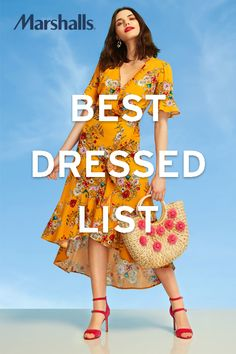 Visit Marshalls for all the latest summer trends in women's fashion, like this floral frock. You'll be sure to make the best dressed list!