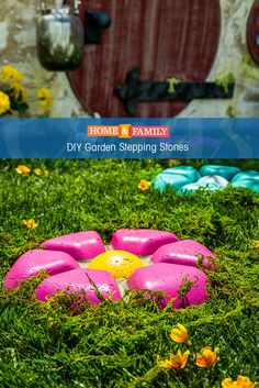 DIY Garden Stepping Stones -  Belive it or not, these adorable garden stepping stones are made out of a chip & dip bowl from the dollar store! DIY by @slumberinggator on Home and Family!