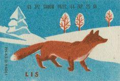 vintage Polish (?) matchbox label