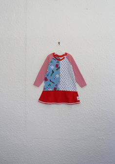 Recycled T Shirt Dress Girl's Size 3 by cynthiamadeforkids on Etsy