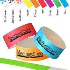 Tyvek One-Day Bracelet-1 Color Imprint
