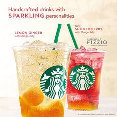 Starbucks fizzio is ready to refresh your spirit this summer with its spark Mango Jelly, Cleanse Your Body, Free Meal Plans, Summer Berries, Coffee Company, Candy Store, Starbucks Coffee, Iced Tea, I Love Food