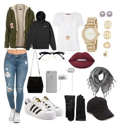 """""""a day in a winter season  IG - @kingrabia"""" by rabiamiah on Polyvore featuring Topshop, NIKE, MaxMara, adidas Originals, Saks Fifth Avenue Collection, rag & bone, Love Quotes Scarves, Native Union, Topman and Beats by Dr. Dre"""