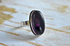Amethyst ring minimalist gemstone adjustable by BonfireVintage, $19.80 Gemstone Jewelry, Unique Jewelry, I Shop, Amethyst, Minimalist, Etsy Shop, Gemstones, Trending Outfits, Handmade Gifts