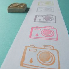My Little Camera - Hand Carved Rubber Stamp Filofax, Make Your Own Stamp, Foto Fun, Origami, Little Camera, Photo Packages, Handmade Stamps, Love Stamps, Mark Making