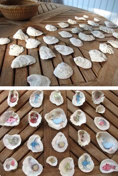 Summer reinforcement - seashell memory game - kids can gather playing pieces