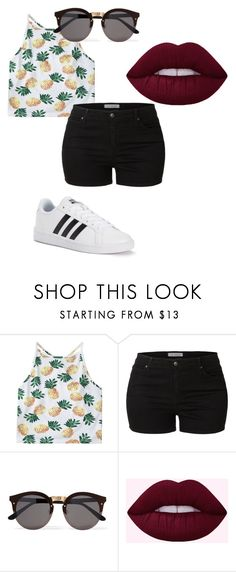 """38"" by park-yui on Polyvore featuring mode, LE3NO, Illesteva et adidas"