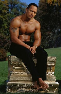 The Rock - Dwayne Johnson. I don't care for heavily tattooed men, but I'll give him a pass.