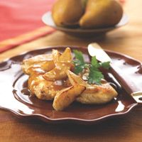 Balsamic Honey Chicken with pears - Panera recipe that everyone loved!