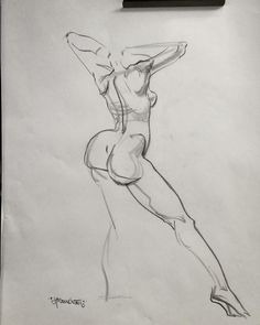 """""""3-Minute Warm Up Sketch While Teaching @calarts"""" - Anatomy & Shape Design Quick Sketch of the Beautiful Jennifer Fabos Today in Valencia CA.  #calarts #figuredrawing #femaleform  #Traditionalstudies #markmcdonnell #cre8tivemarksU #design #personality #anatomy #disney by cre8tivemark"""