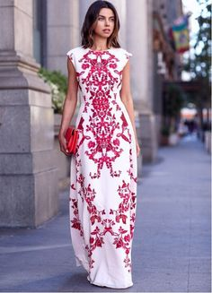 Fashion printed bodycon dress   NVYRA381