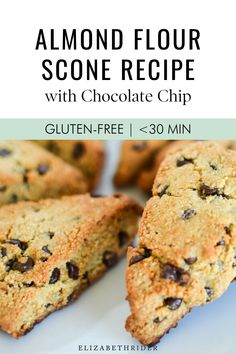 Gluten free meals 124482377188598411 - Try this easy-recipe: Gluten-Free Almond Flour Scone with Chocolate Chips. Elizabeth Rider Source by Lydiaelle Almond Flour Muffins, Baking With Almond Flour, Almond Flour Recipes, Recipes With Flour, Recipes With Almonds, Recipes With Hazelnut Flour, Cookies With Almond Flour, Desserts With Almond Flour, Coconut Flour
