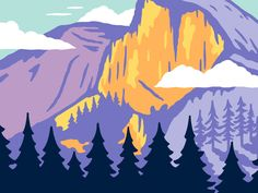 Sneak peek at my recent illustration of Yosemite for the next installment in the National Park series that I've been working on. It'll be awhile, but I can't wait to show the full illustration and ...