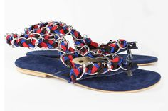 """Items similar to Jeweled leather sandal """"Navi"""" on Etsy Leather Sandals, Jewels, Trending Outfits, Unique Jewelry, Handmade Gifts, Etsy, Collection, Vintage, Kid Craft Gifts"""