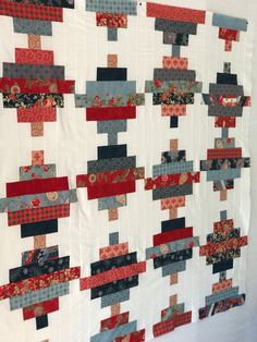 UNfinished Quilt Top, Scrappy Quilt Top, 4th of July, Red, White, Blue, Handmade Quilt, Independence Day, American, America, Quilts for Sale by HappyGoQuilting on Etsy