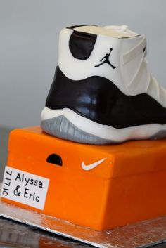 air jordan xi concord cake step by step process 10 Air Jordan XI Concord  Sneaker Cake Step by Step Process