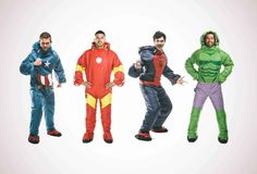 Superhero sleeping bags you can wear ... Great for camping AND vigilante justice.