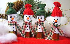 Christmas Ornaments Set of 4 Shotgun Shell Snowmen. $14.00, via Etsy.