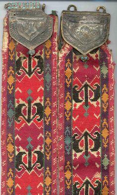 uzbek nomads Lakai belt, 2nd half 19th century, base metal clasp  .