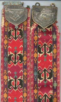 uzbek nomads Lakai belt, 2nd half 19th century, base metal clasp  .