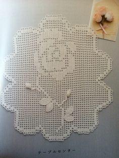 かぎ針編みの薔薇いっぱいこもの #方眼編み #Filetcrochet