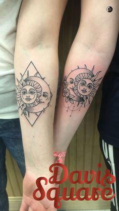 Best friend tattoos by Alicia Thomas at Boston Tattoo Company
