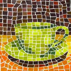 Paper Mosaic Art - Paper Crafts, Easy Crafts to Make Paper Mosaic, Mosaic Crafts, Mosaic Art, Easy Mosaic, Mosaic Mirrors, Mosaic Ideas, Paint Chip Art, Paint Chips, Paper Art