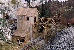 "Idaho Springs Mine -- 3 x 3-3/8"" 7.7 x 8.6cm (200-433) -- Walthers Model Railroading"