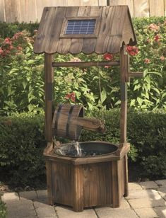 Solar Wishing Well Fountain from Seventh Avenue ®