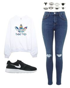 """""""Outfit Idea by Polyvore Remix"""" by polyvore-remix ❤ liked on Polyvore featuring mode, adidas en NIKE"""