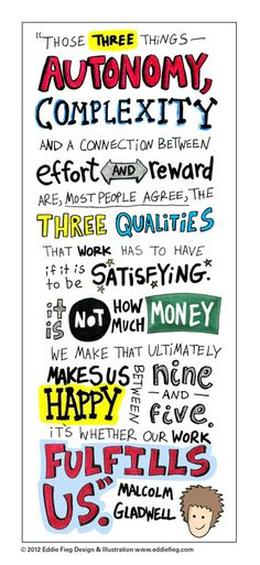 Hand-lettered type treatment of a Malcolm Gladwell quote from Outliers: The Story of Success Submitted by angie-eddie