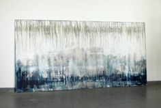 """Saatchi Art Artist Christian Hetzel; Abstract Painting, """"blue grey white"""" #art 
