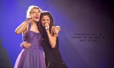 """Taylor Swift and Selena gomez // Speak Now Tour // Who Says "" Selena Selena, Fotos Selena Gomez, Estilo Selena Gomez, Selena And Taylor, Selena Pics, Show Da Taylor Swift, Taylor Swift Speak Now, Taylor Swift Concert, Dinner Gowns"