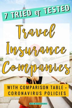 Round up article on the best Travel Insurance companies | Travel insurance reviews of 7 insurers | Including coronavirus travel insurance policies | travel insurance for coronavirus | will travel insurance cover coronavirus | travel insurance tips | travel insurance company reviews | do I need travel insurance | travel after coronavirus | travel during coronavirus | COVID-19 travel #coronavirus #travelinsurance #traveltips #travelhacks Paris Travel Tips, Travel Goals, Travel Hacks, Travel Essentials, Time Travel, Travel Reviews, Travel Articles, Travel Advice, Travel Quotes
