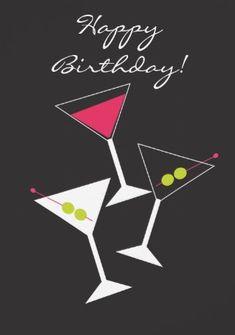 Happy Birthday 3 Martini cocktails