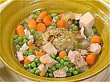 I made this Turkey soup from Rachel Ray and it was good. It uses stuffing too so great for Thanksgiving left overs