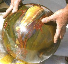 Huge tiger's eye sphere.