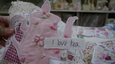 Tea Party Fabric Journal