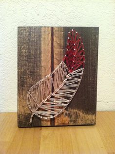 Custom Feather String Art by ThreadTherapy1 on Etsy, $25.00