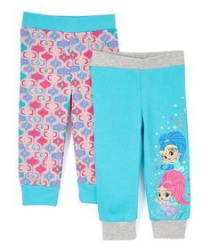 Loving this Gray, Turquoise & Pink Sweatpants - Toddler on #zulily! #zulilyfinds
