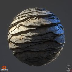 Personal project, material study of Granite Exfoliation Sheets. 100% Substance Designer, rendered in Marmoset.