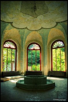 Abandoned ~ Salt fountain in the salt water spa in Denmark (dates back to 1846)