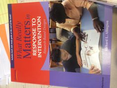 RTI Book: What Really Matters in Response to Intervention