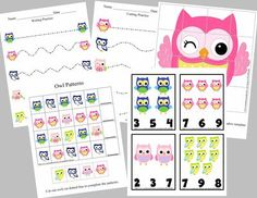 Owl+Pre-K+and+Kindergarten+Pack+from+LilOwlPrints+on+TeachersNotebook.com+-++(6+pages)++-+Owl+Themed+Pre-K+and+Kindergarten+Pack+-+Handwriting+Cutting,+Patterns,+Puzzles+and+Number+Recognition