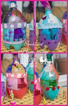 Pop Bottle Fairy Houses